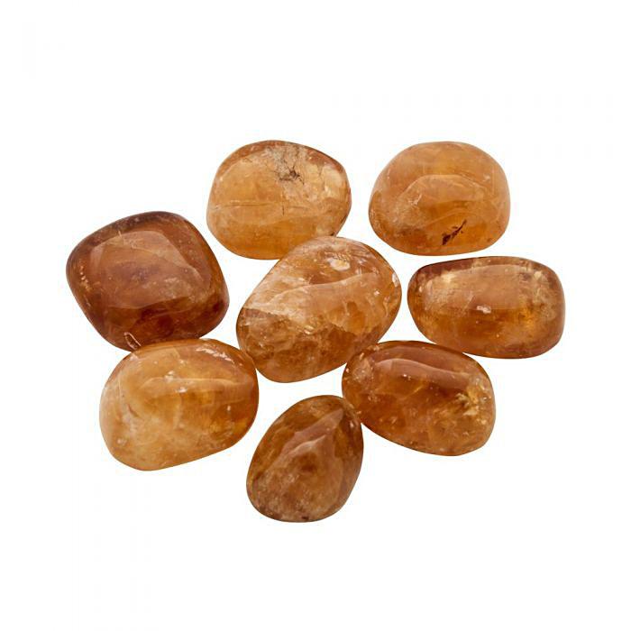 Orange honungskalcit Trumlad 2-3 cm