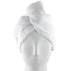 Handduk mikrofiber turban (Färg: VIT)