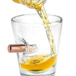Snappsglas Bullet shot whisky drink glas- 2st.