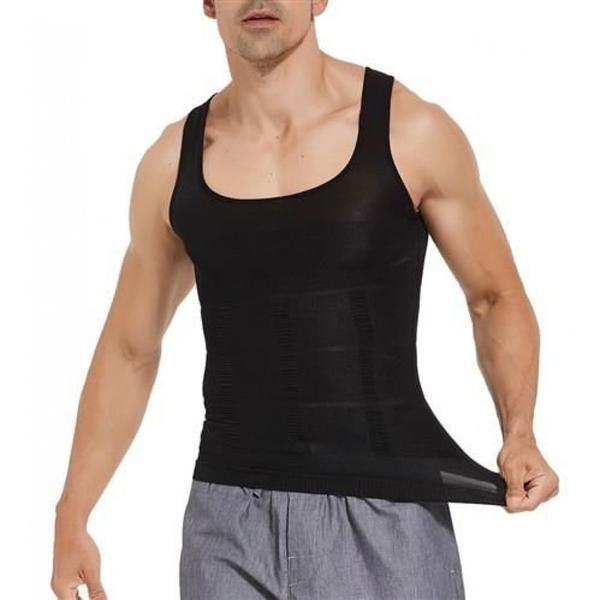 Linne Body Slim Shaper för män-Svart (Storlek: M)