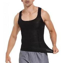 Linne Body Slim Shaper för män-Svart (Storlek: L)