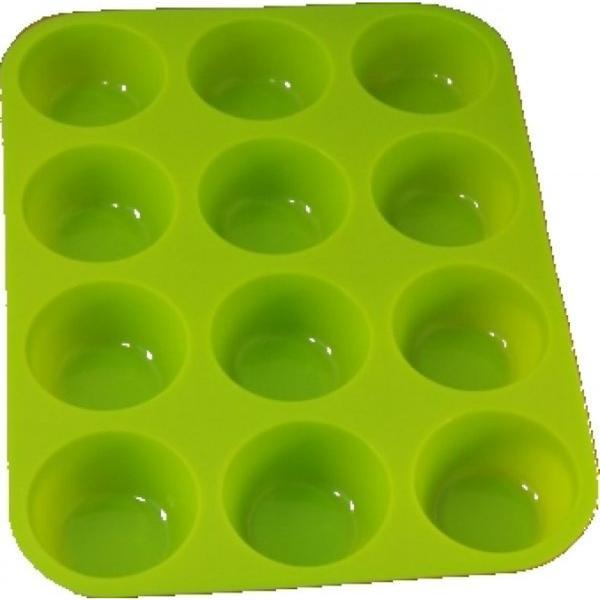 Muffinsform 12st Silikon (Färg: Grön)