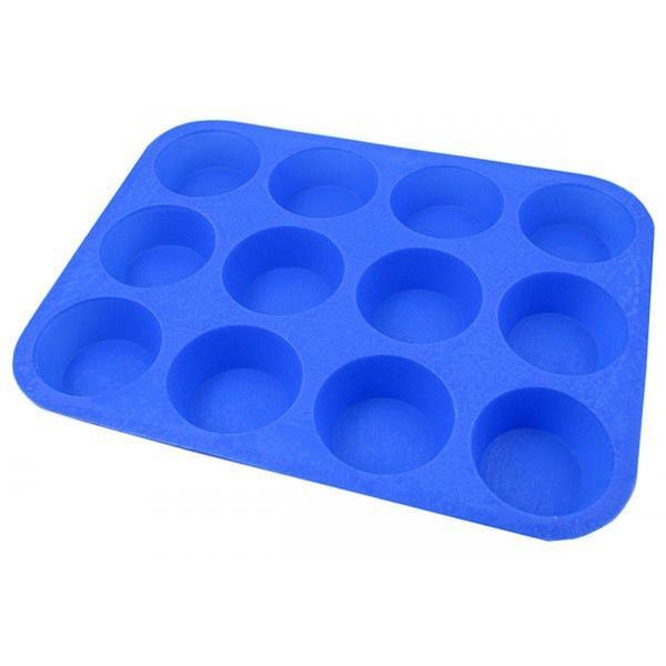 Muffinsform 12st Silikon (Färg: Blå)