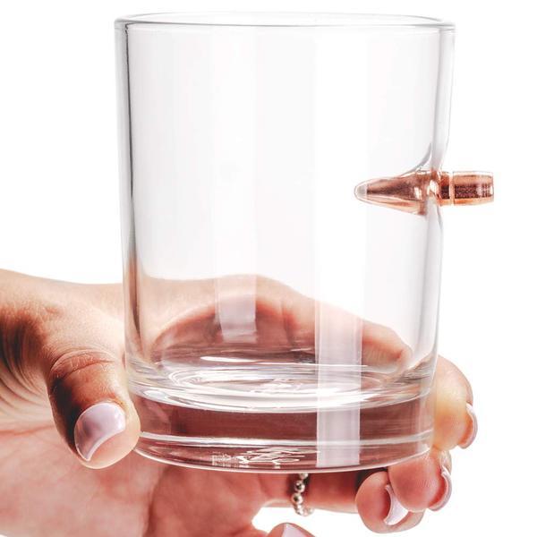 Bullet shot whisky drink glas