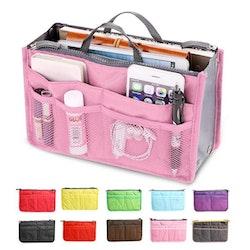 Bag in bag väskinsats necessär (Färg: VINRÖD)