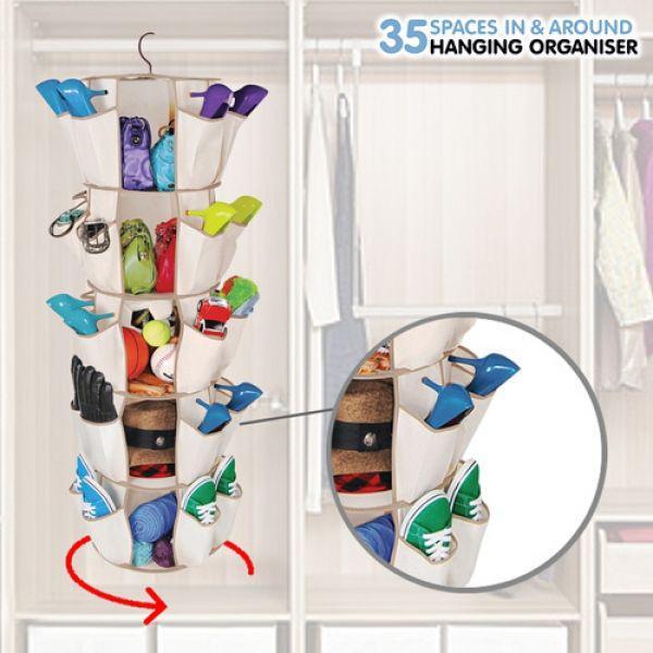 Skor och förvarings hängare 35 par skor.