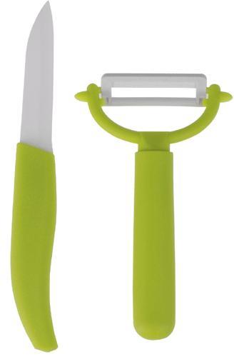2st.Keramisk kniv och skalare (Färg: Röd)