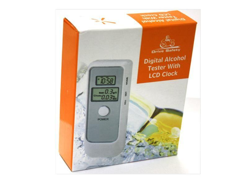 Digital alkoholmätare Alkomätare silver