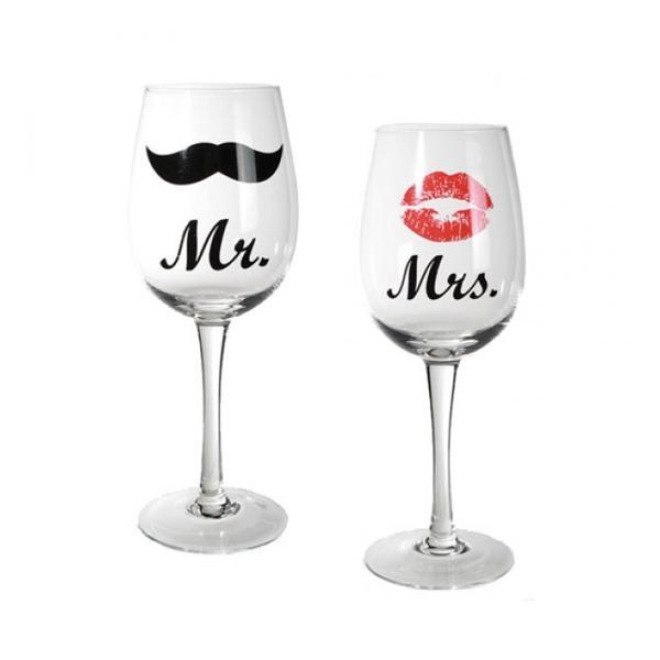 Vinglas Mr och Mrs