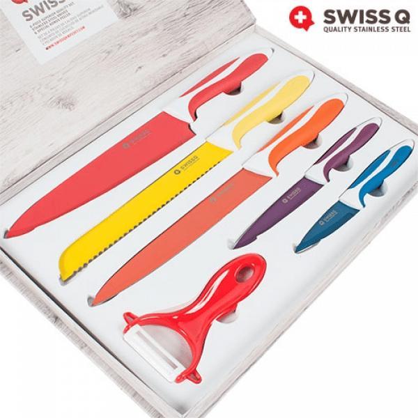 SwissQ keramik-knivar plus skalare