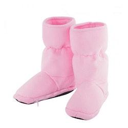 Mikrovågstofflor värmetofflor höga rosa (Storlek: M)
