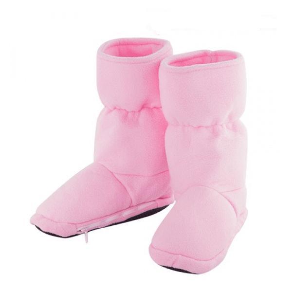 Mikrovågstofflor värmetofflor höga rosa (Storlek: S)
