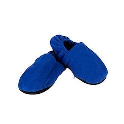 Mikrovågstofflor värmetofflor blå