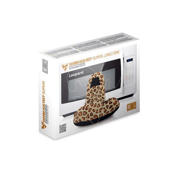 Mikrovågstofflor värmetofflor leopard