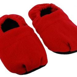 Mikrovågstofflor värmetofflor röd