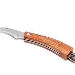 Svampkniv med borste och Fodral.