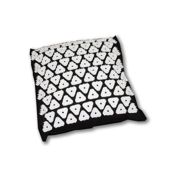 Spikkudde kvadrat svart