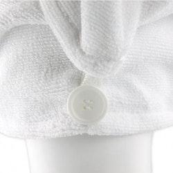 KVALITET- Hårhandduk mikrofiber VIT