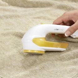 Noppborttagare för noppriga kläder gulvit