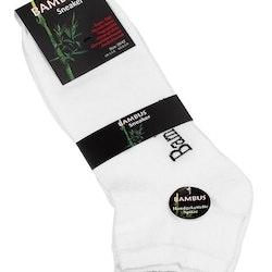 Bambustrumpor sneakers vita 3-pack (Storlek: 39-42)