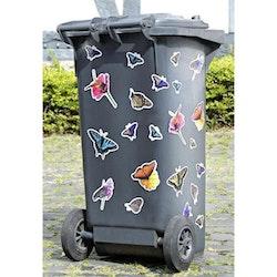 Dekorera din soptunna! Stickers 22 st. Vackra Fjärilar