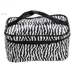 Necessär sminkväska zebramönstrad-Större