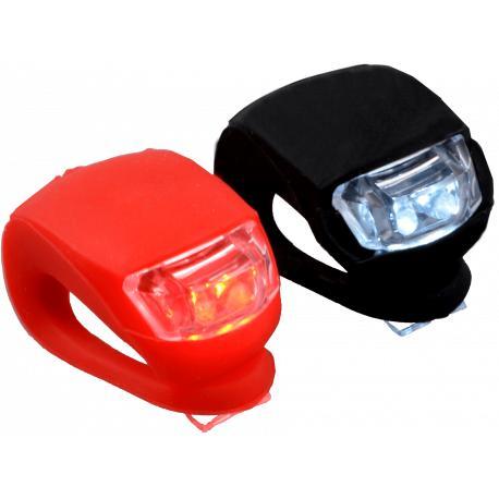 LED cykellampor 2-Pack cykelbelysning i silikon röd och svart