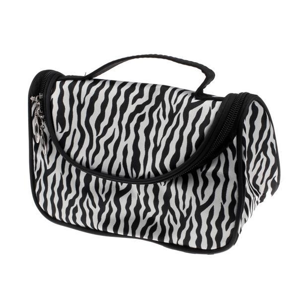Sminkväska Necessär Zebra mönstrad