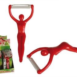 Keramisk köks skalare- Röd kvinna