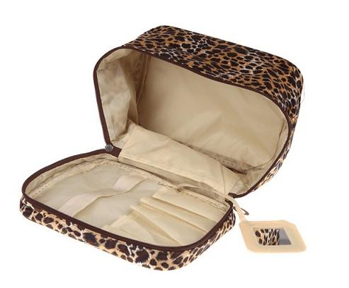 Sminkväska Necessär Leopard - stor
