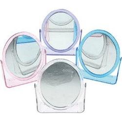 Sminkspegel med rejäl förstoring.13 x 10 cm- Rosa