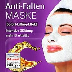 Anti-Rynk Ansiktsmask  med Jojobaolja, Hyaluronsyra och Shea. 2st. x 2 x 5 ml