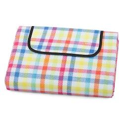Tutti Frutti färgad Picknickfilt isolerande vatten och smutsavvisande baksida-200 x 150 cm KVALITET