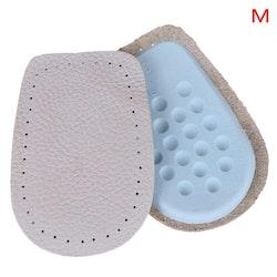 Hälkudde i läder (2st) - Hälinlägg mot smärta i hälen. Stl.40-45