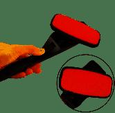 Klädborste Möbelborste i sammet /  röd-svart