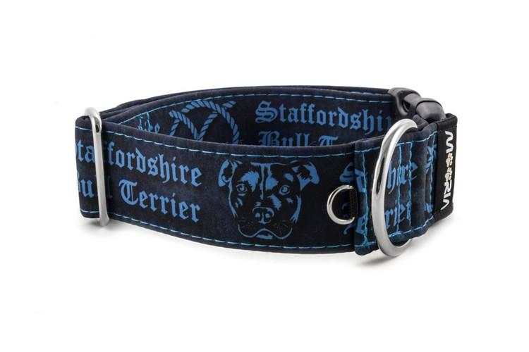 Hundhalsband Staffordshire Bull Terrier Blå