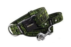 Hundhalsband Staffordshire Bull Terrier Grön