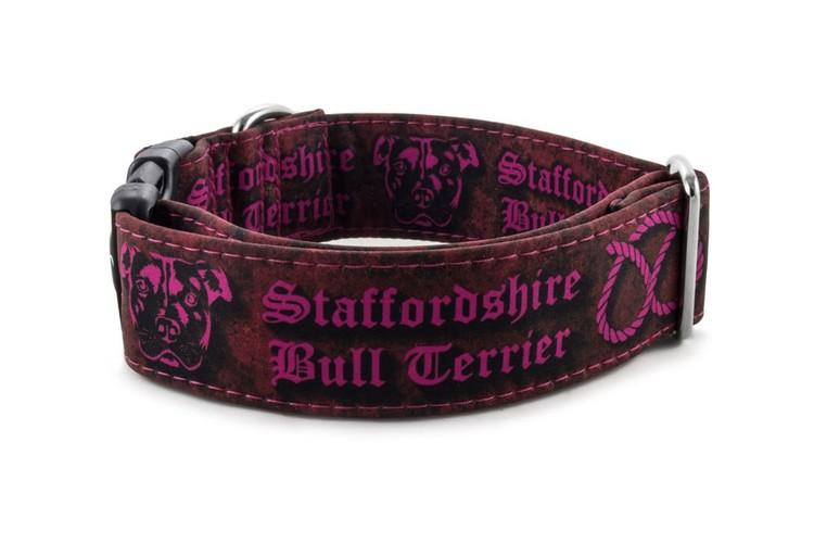 Hundhalsband Staffordshire Bull Terrier Rosa
