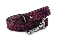 Hundkoppel 130 cm Staffordshire Bull Terrier Rosa