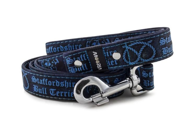Hundkoppel Dubbel 215 cm Staffordshire Bull Terrier Blå