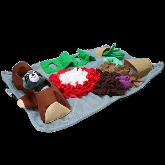 Snuffelmat med leksak