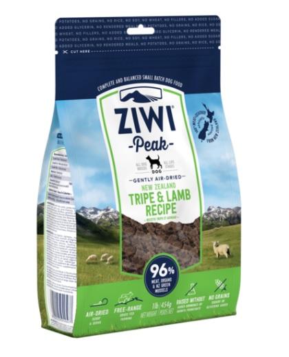 Ziwi Peak Dog Air-Dried Tripe & Lamb 454 g