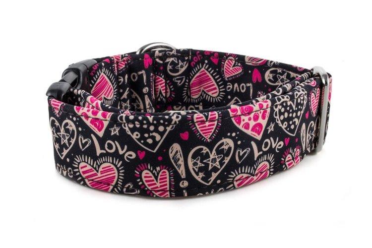 Hundhalsband Love Hearts
