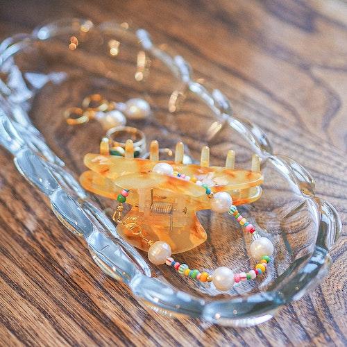 Rectangular glass plate