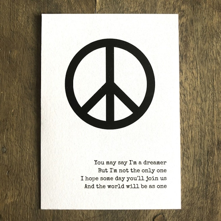 Peace Prints Imagine