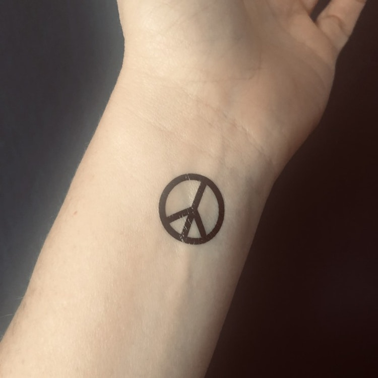 Peace Tatuering 6 st