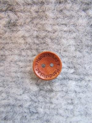 Träknapp Handstickad - 15 mm