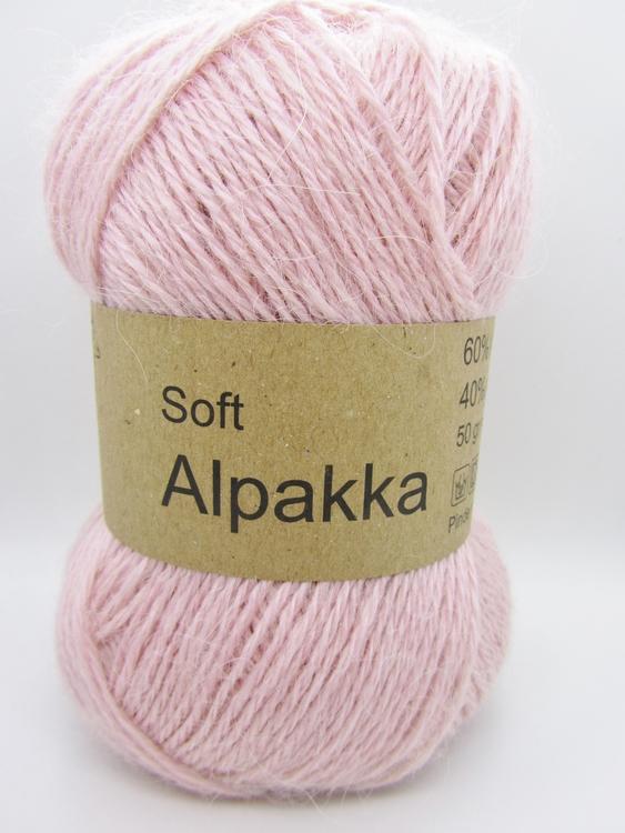 Soft Alpakka från Cewec, 60% Alpacka & 40% Akryl, Rosa nystan fg 11.