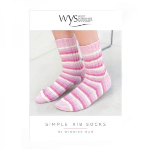 WYS Simple Rib Sock Pattern