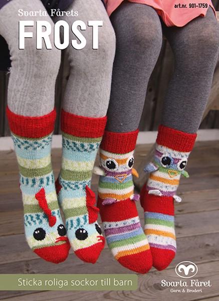 Svarta Fårets Frost - Sticka roliga sockor till barn